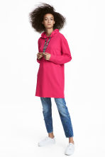 Hooded sweatshirt dress - Cerise - Ladies | H&M IE 1