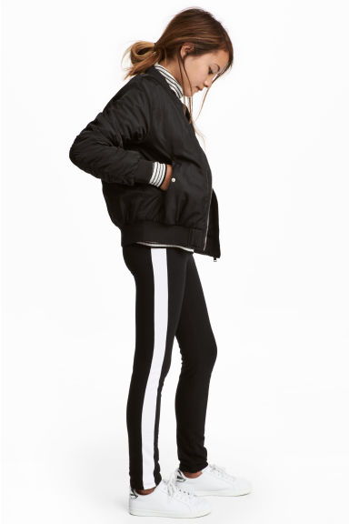 Sturdy jersey leggings - Black -  | H&M CA 1