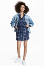 Shirt dress - Blue/White checked - Ladies | H&M 1