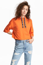 Hooded crop top - Orange - Ladies | H&M CN 1