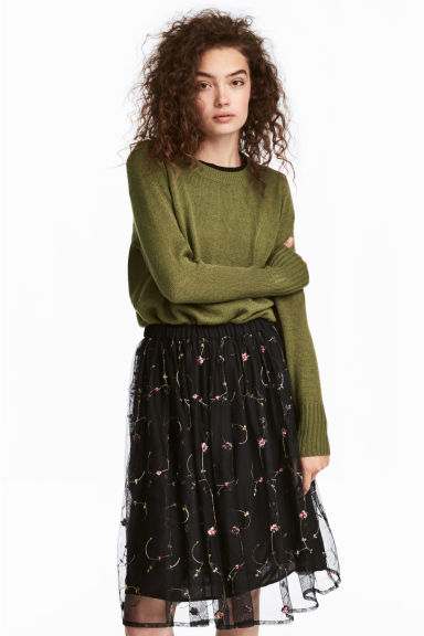 Knitted jumper - Green - Ladies | H&M 1