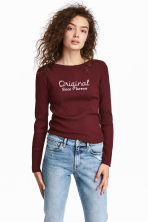 Top in maglia a coste - Bordeaux - DONNA | H&M IT 1