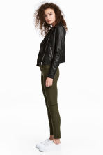 Stretch trousers - Dark khaki green - Ladies | H&M CN 1