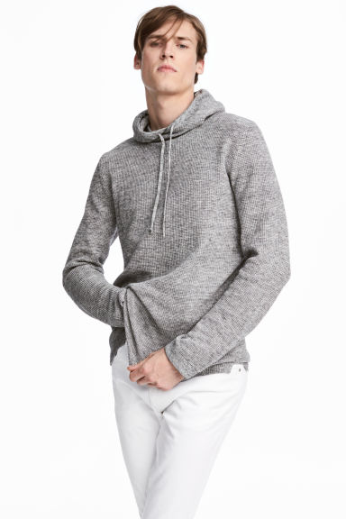 Textured-knit jumper - Grey marl - Men | H&M CN 1