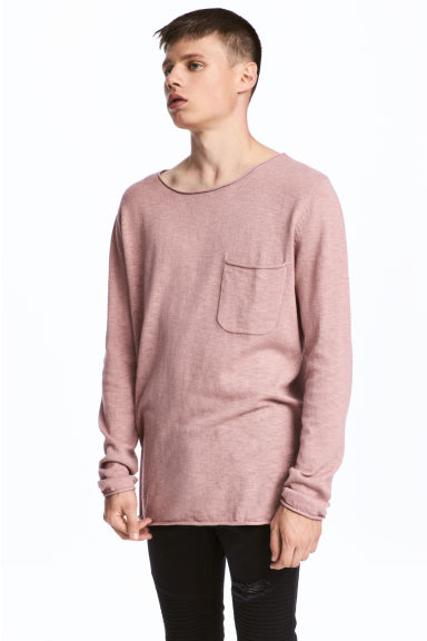 Fine-knit jumper - Old rose - Men | H&M CN