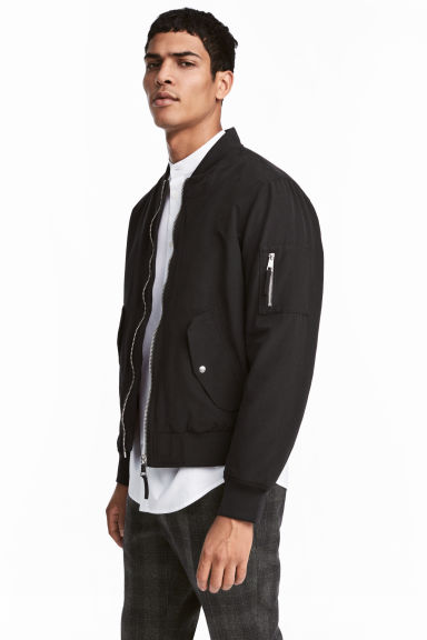 Padded Bomber Jacket - Black - Men | H&M CA 1