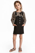 Bib Overall Dress - Black - Kids | H&M CA 1