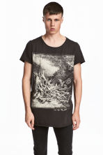 T-shirt with a print - Dark grey/Angel - Men | H&M CN 1