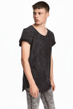 Slub jersey T-shirt - Dark grey - Men | H&M CN 1