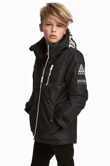 Padded outdoor jacket - Black -  | H&M IE