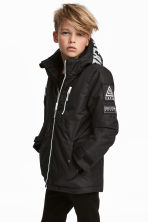 Padded outdoor jacket - Black - Kids | H&M CN 1