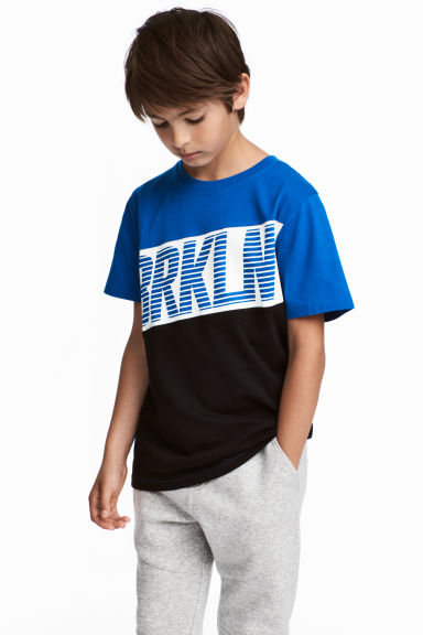 Printed T-shirt - Blue/Brkln - Kids | H&M CN 1