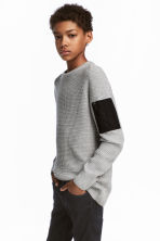Knitted jumper - Grey marl -  | H&M 1
