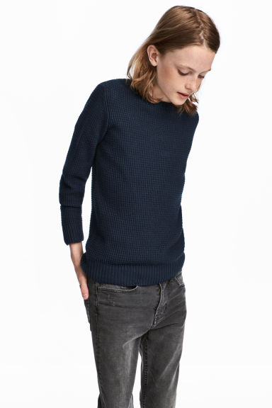 Knitted jumper - Dark blue -  | H&M IE
