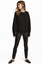 Trousers High waist - Black/Coated - Ladies | H&M 1