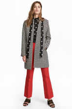 Short Coat - Houndstooth-patterned -  | H&M CA 1