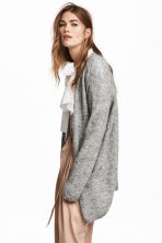 Mohair-blend cardigan - Grey marl - Ladies | H&M CA 1