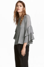 Knitted top - Grey - Ladies | H&M CN 1