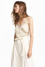 Top in satin - Beige chiaro -  | H&M IT 1