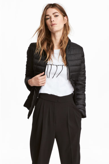 Thin down jacket - Black -  | H&M