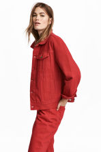Denim jacket - Red - Ladies | H&M CN 1