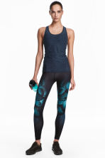 Sports tights - Black/Butterfly - Ladies | H&M CN 1