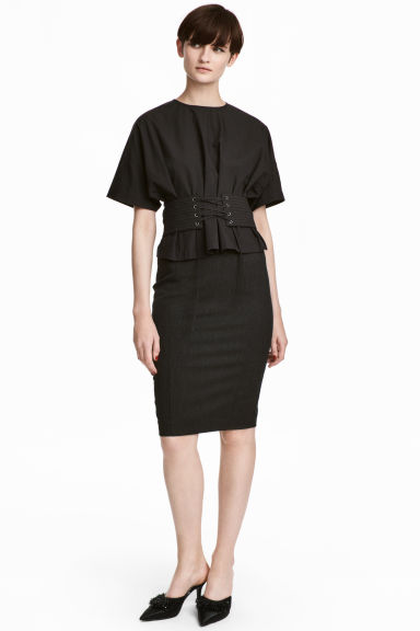 Pencil skirt - Dark grey - Ladies | H&M CN 1