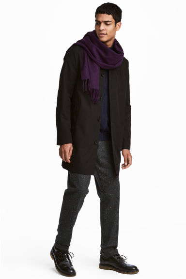 Cotton twill car coat - Black - Men | H&M 1