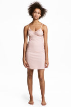 Ribbed microfibre nightslip - Light pink - Ladies | H&M CN 1