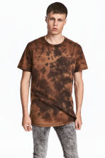 Batik-patterned T-shirt - Brown/Batik - Men | H&M 1
