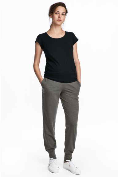 MAMA 慢跑褲 - Dark grey marl - Ladies | H&M