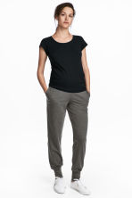 MAMA 慢跑褲 - Dark grey marl - Ladies | H&M 1