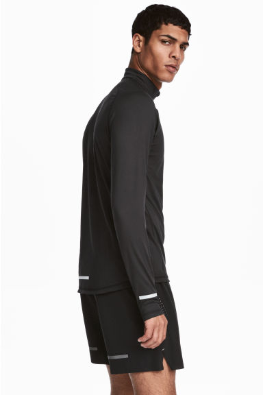 Running top with a collar - Black - Men | H&M CA 1
