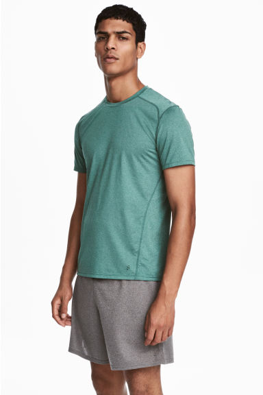 Sports top - Light green marl - Men | H&M 1