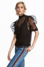 Sheer top - Black - Ladies | H&M CN 1