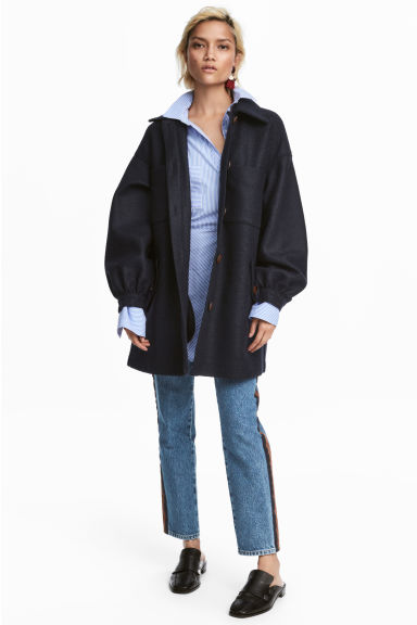 Short coat - Dark blue - Ladies | H&M CN