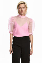 Sheer top - Light pink - Ladies | H&M IE 1