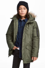 Padded parka - Khaki green - Kids | H&M 1