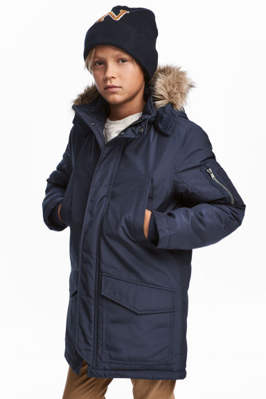 Padded parka - Dark blue - Kids | H&M 1
