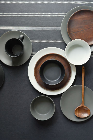 Porcelain plate - 深灰色 - Home All | H&M CN 1