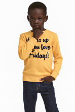 Sweatshirt with an appliqué - Yellow - Kids | H&M CN 1