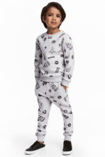 Sweatshirt and trousers - Light grey/Space - Kids | H&M 1
