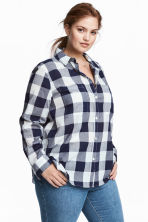 H&M+ Cotton shirt - Dark blue - Ladies | H&M CN 1