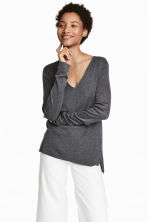 Fine-knit jumper - Dark grey - Ladies | H&M 1