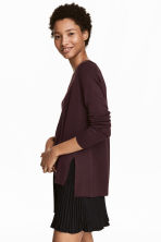 Fine-knit jumper - Plum - Ladies | H&M CN 1