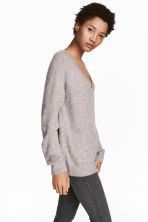 V-neck Sweater - Gray - Ladies | H&M CA 1
