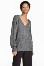 V-neck jumper - Dark grey - Ladies | H&M 1