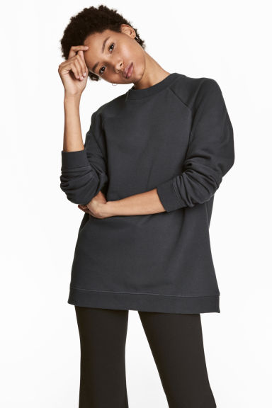 Long sweatshirt - Grey-blue - Ladies | H&M