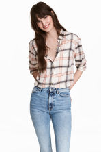 Camicia in flanella - Bianco naturale - DONNA | H&M IT 1