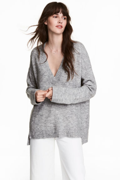 Oversized jumper - Grey -  | H&M IE